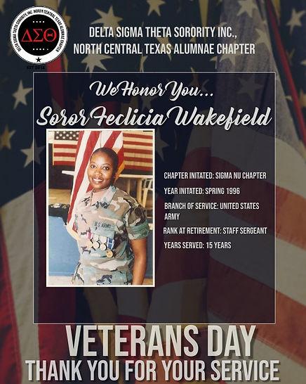 Veterans Day Tribute- Felicia Wakefield.