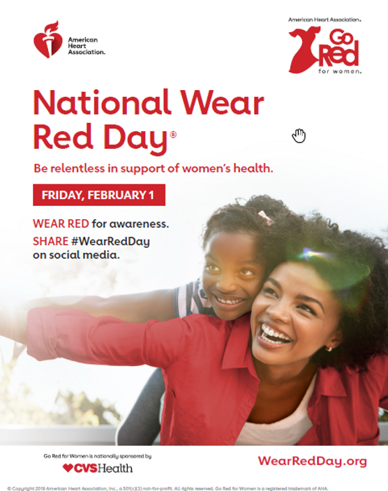 GO Red For Women - Wear Red Day Email Ba