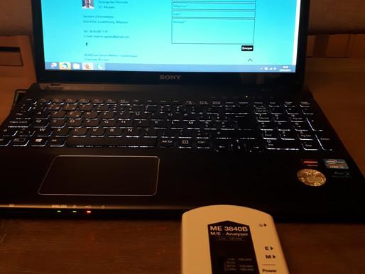 Perturbations d'un ordinateur portable au quotidien.