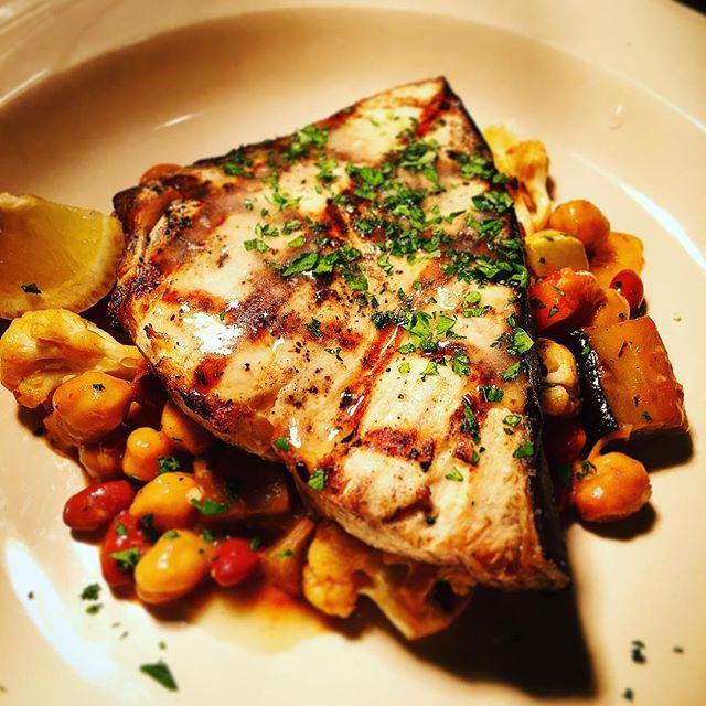 Fresh swordfish steak grilled .... #deliscious