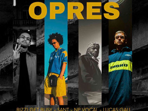 """Rappers do PrimeiraMente, Lucas Gali e NP Vocal, se juntam a Sant e Rizzi Get Busy na faixa """"OPRES"""""""