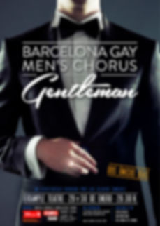 Cartel espectáculo Gentleman Barcelona Gay Men's Chorus