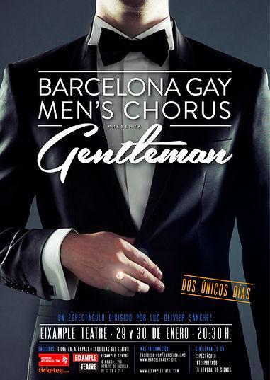 Cartel espectáculo Gentleman Barcelona Gay Men's Chorus