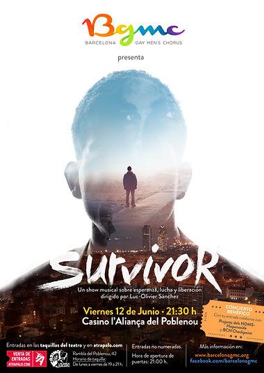 Cartel espectáculo Survivor Barcelona Gay Men's Chorus