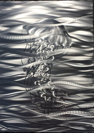 """Single Sea Nettle, 16x12"""""""