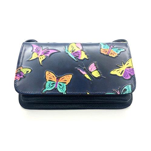 Bolso Pequeño Azul Mariposas
