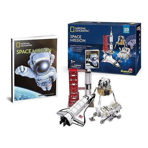 Misión Espacial Rompecabezas 3D 80 piezas National Geographic