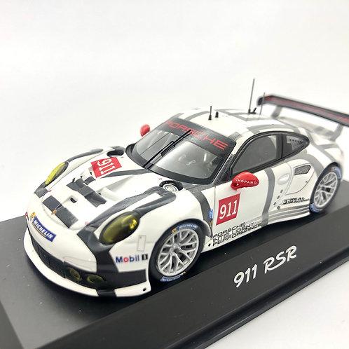 Porsche 911 RSR Modelo a escala 1:43 GT3 Cup Blanco/ Negro/ Gris #911