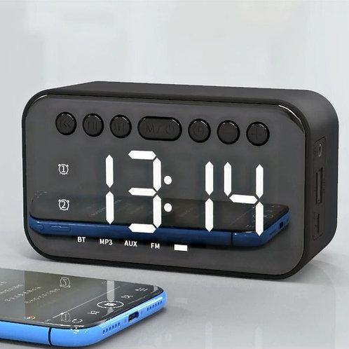 Radio Reloj digital con parlante Bluetooth , pantalla LED y sistema de carga USB