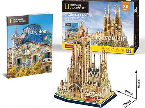 Sagrada Familia Rompecabezas 3D 184 piezas National Geographic