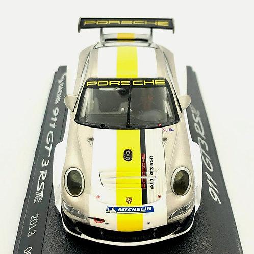 Porsche 911 RSR Modelo a escala 1:43 GT3 RSR Blanco/ Amarillo/ Gris