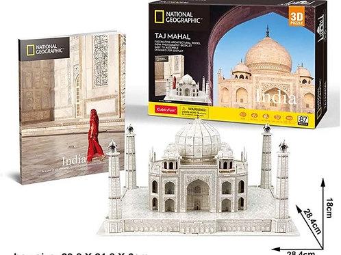 Taj Majal Rompecabezas 3D 80 piezas National Geographic