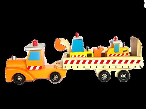 Camión Niñera con maquinitas de madera
