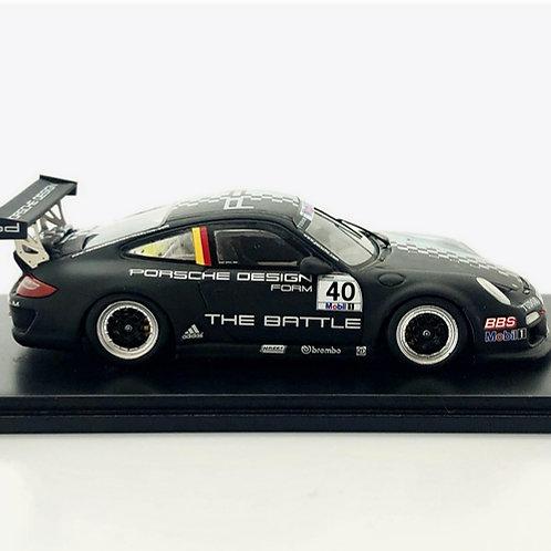 Porsche 911 RSR Modelo a escala 1:43 GT3 Cup Negro/ Plata#40