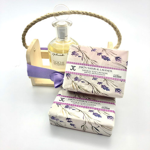 Kit Jabón Natural Lavanda y Ambientador Noche Relajante