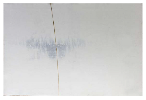 Golden Line 4   Ink and acrylic gold on canvas 141 x 210 x 2 cm  2015
