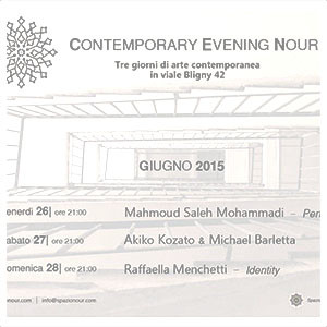 CONTEMPORARY EVENING NOUR – 2 26 GIUGNO 2015
