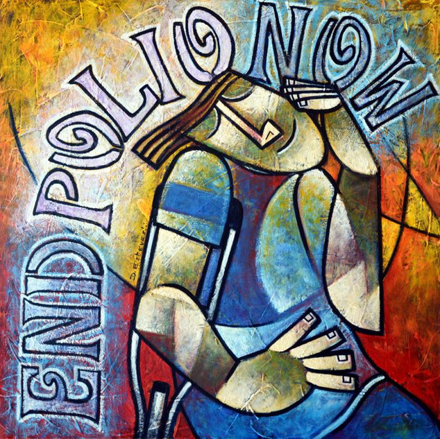 End polio now - 60 x 60 cm.