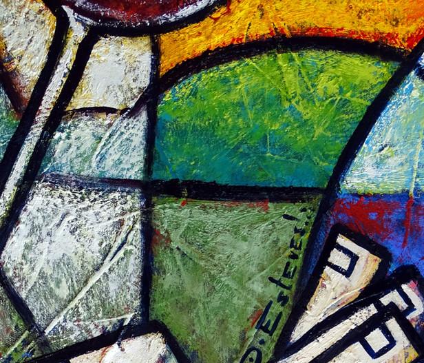 Detalhes de uma pintura