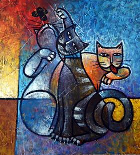 Picasso e seus amigos - 50 x 50 cm.