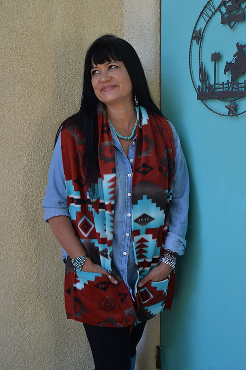 Southwestern Patterned Fleece Scarf Collection