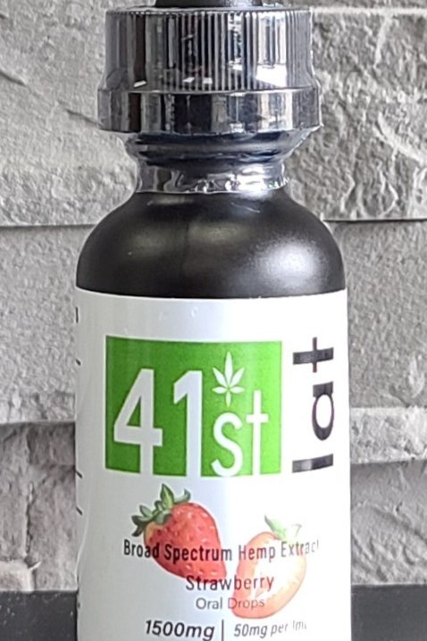 Strawberry 1500mg Broad Spectrum Tincture Oil