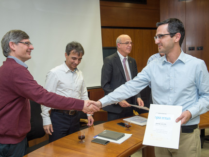 Our lab's funding achievements acknowledged by TAU leadership