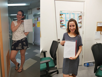 Proud of Mushki and Rotem, the first Salomon lab students to submit their thesis works