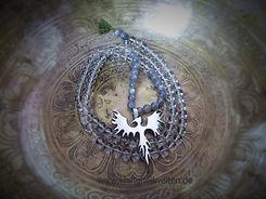 Mala Bergkristall Labradorith Phoenix