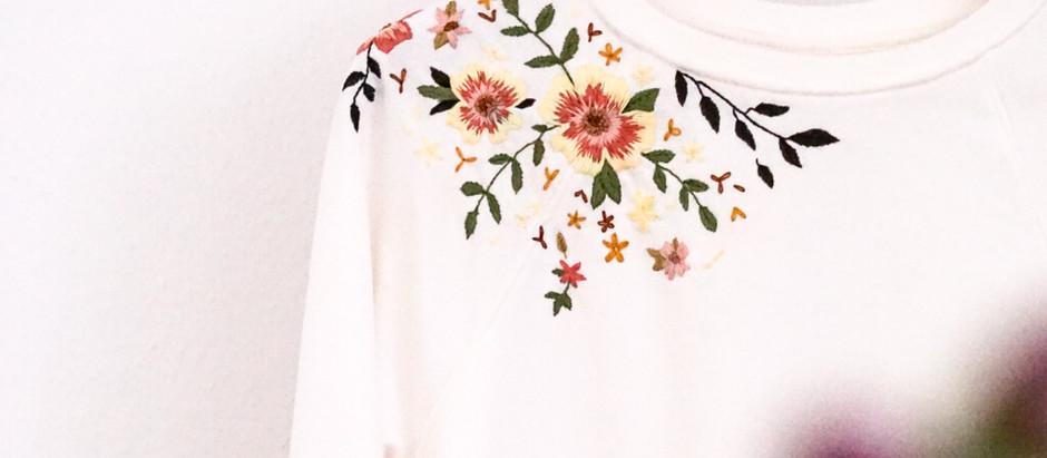 H&M Sweatshirt besticken