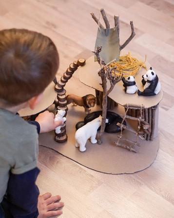 DIY- Zoo für Kinder basteln