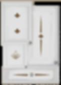 kitchen cabinet decals fleur theme