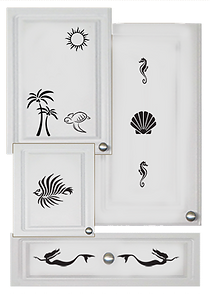 kitchen cabinet decals seashore theme