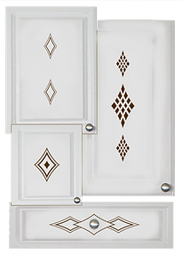 kitchen cabinet decals diamond theme