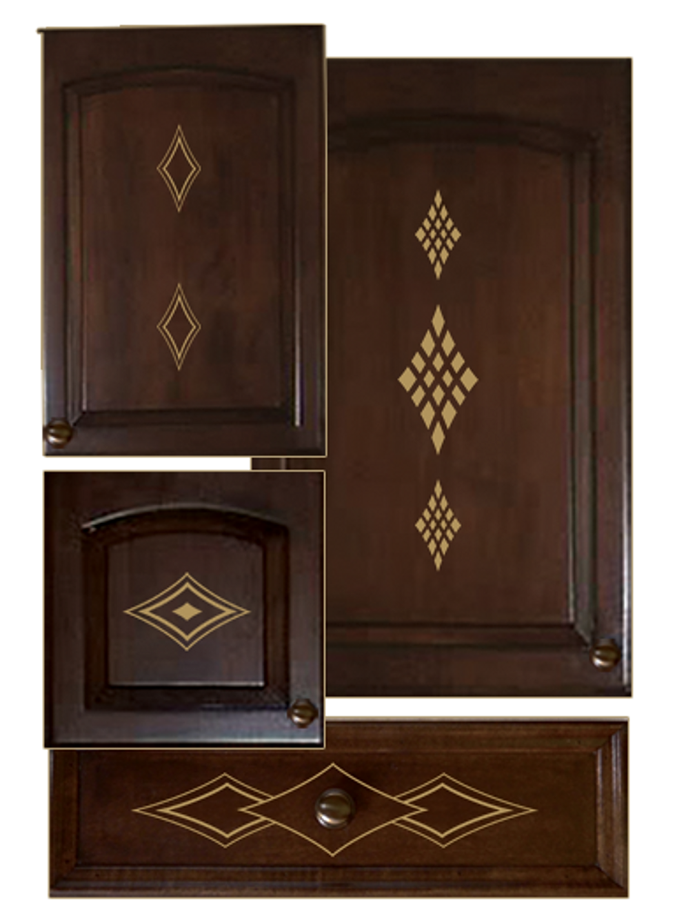 Kitchen cabinet decals decorative design kit - Decals for kitchen cabinets ...