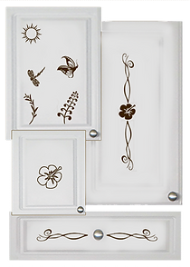 kitchen cabinet decals nature theme