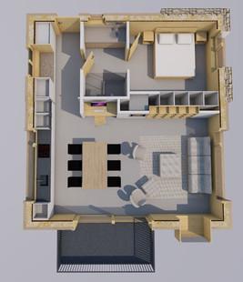 Transformation d'un appartement dans un ancien chalet (projet en cours)