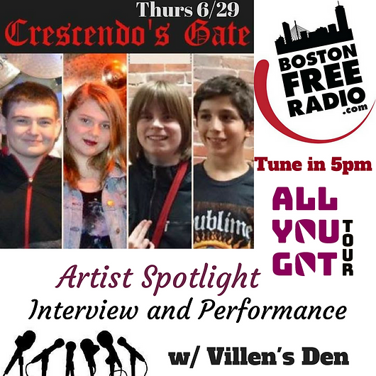 AYG Tour Band- Crescendos Gate live performance & interview