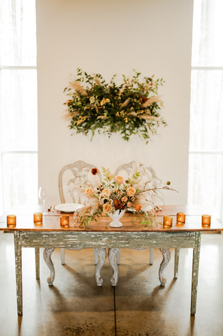 Sweetheart Table at The MEadows