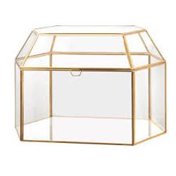 Gold - Glass Card Box