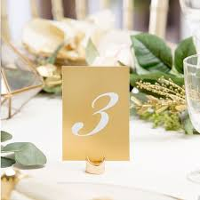 Gold Table Numbers - Holders