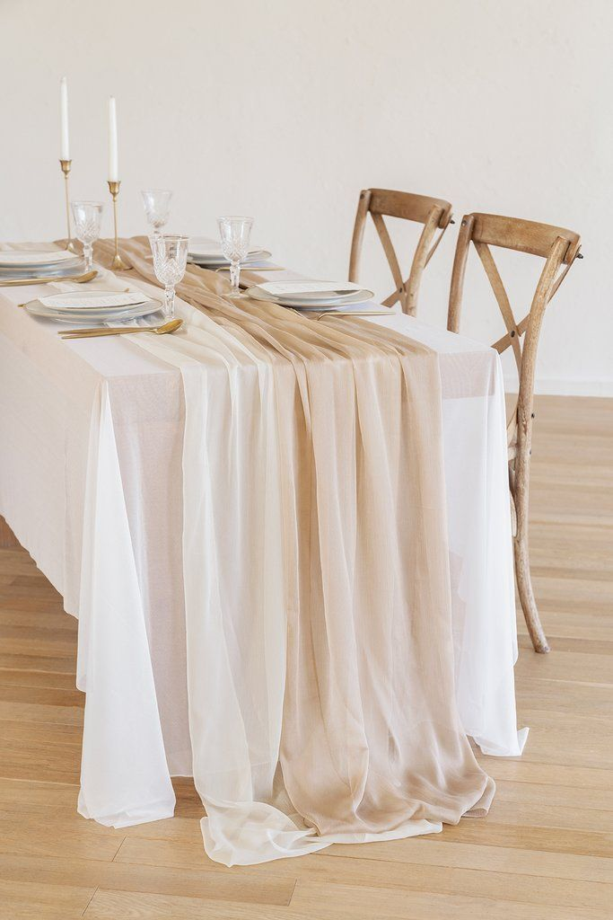 Silky Chiffon Table Runner 30%22w x 10FT