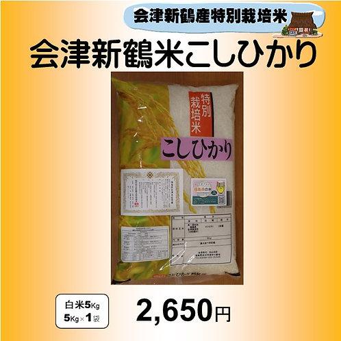 特別栽培米 会津新鶴米こしひかり5kg