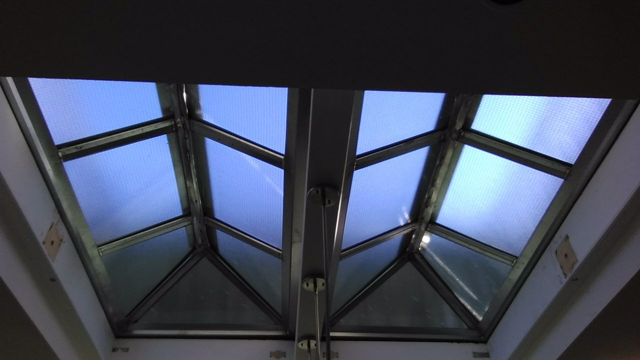 Inside of skylights installed in NYC
