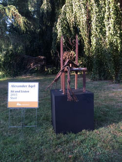 steel art piece by Alexander Aqel