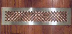 punched steel sheet in diamond patte