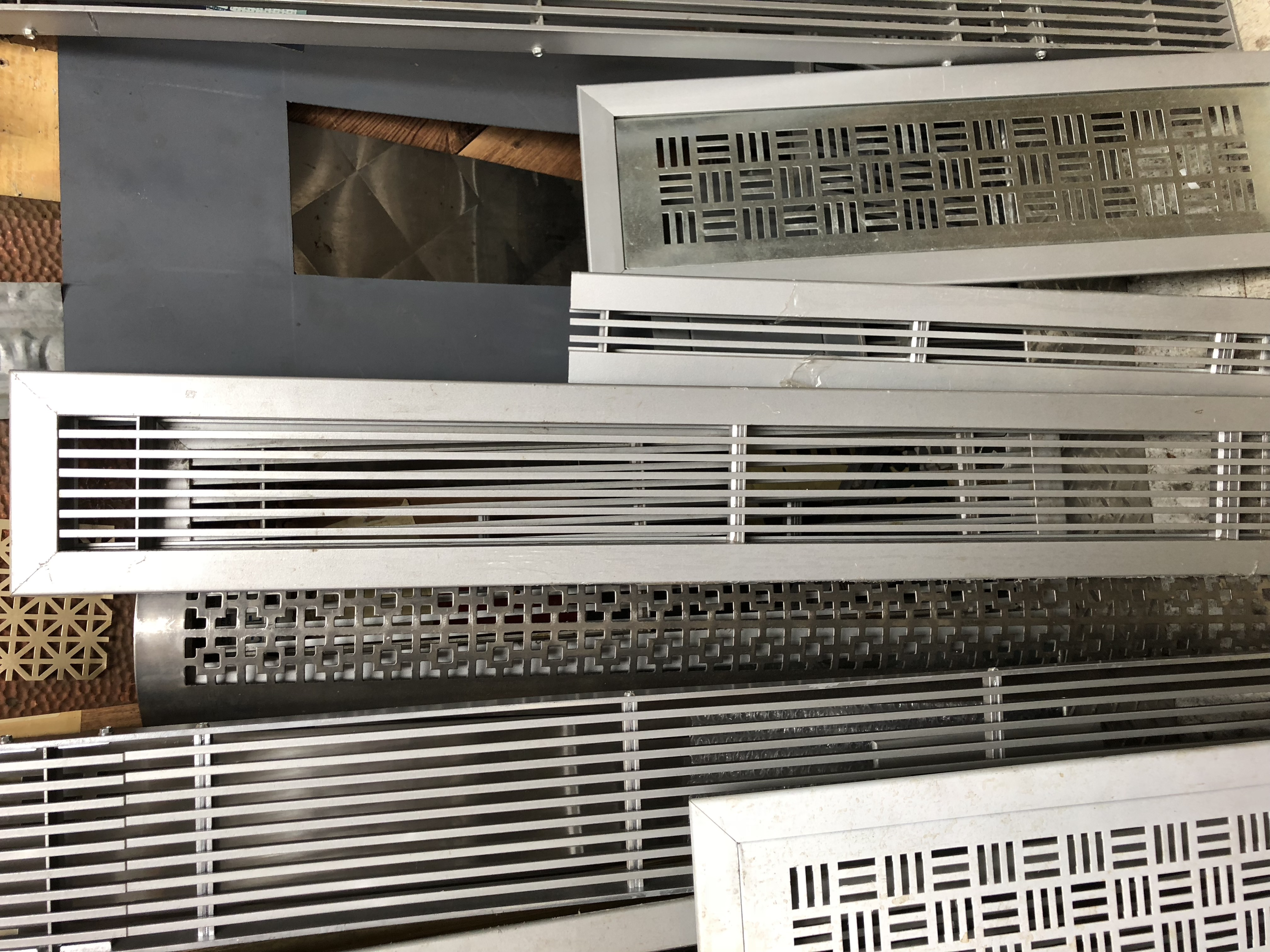 linear and perforated grilles