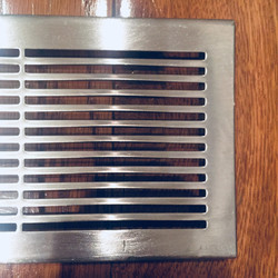 punched steel grille
