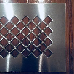 perforated steel in diamond pattern