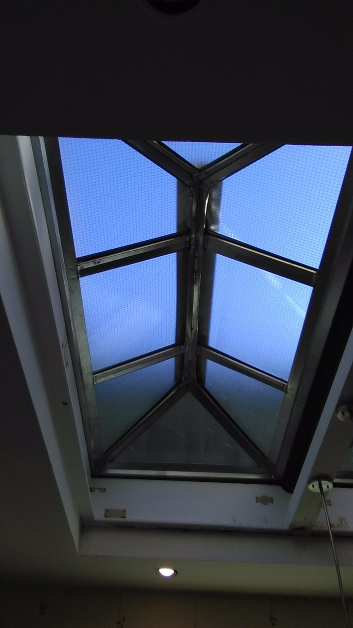 Inside of skylight installed in NYC
